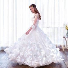 Suzhou wedding dress wholesale foreign trade wedding dress new Korean bride wedding dress white long section s