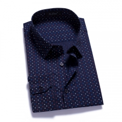 Cotton lapel casual men shirt men shirt Navy s