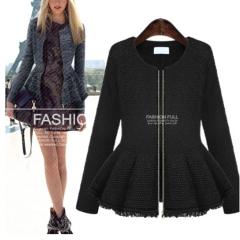 2017 autumn new fashion MM large size women T-shirt coat dress long sleeved cardigan gray XL