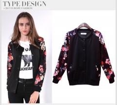2017 new spring mm print jacket jacket black XL