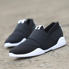 Slip-Ons Higher Shoes Men's Casual Shoes Breathable Canvas Sneakers Shoes for Men black 42