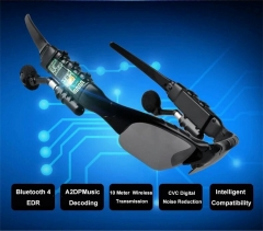 4.1 Bluetooth Stereo Headset Phone Bluetooth Sunglasses To Vehicle Smart Glasses black one size