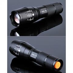 Lights LED 1200  Lumens Tactical T6 Flashlight Adjustable Focus 5 Mode Flashlights Torch black one size