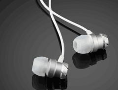 3.5mm In-Ear Earphones Super Headphones Stereo Headset Earbuds With Mic white