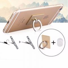 360 Degree Finger Ring Grip Mobile Phone Tablets Holder Stand Holder Back Cover black 40*35*7mm