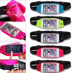Sports Running Jogging Gym Waist Belt Bag Case Cover Holder For Mobile phone black 5.0~6.0inc currency