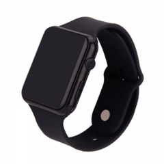 Fashion male / female plastic universal digital movement LED electronic watches black Please look at descr
