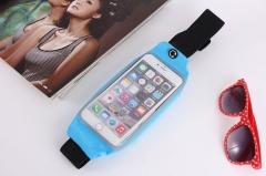 Sports Running Jogging Gym Waist Belt Bag Case Cover Holder For Mobile phone blue 5.0~6.0inc currency