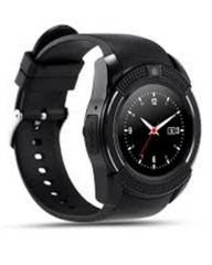 Smartwatch V8 Android Bluetooth Smart Watch With Sim card Toolkit - Black black n/b