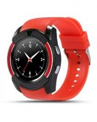 V8 Smart Watch With Sim card Toolkit - Red red n/b