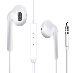 In-Ear Earpods Earphones Earbuds Headphone with Mic for Vivo INFINIX DOOGEE CUBOT Smartphone/Tablet white
