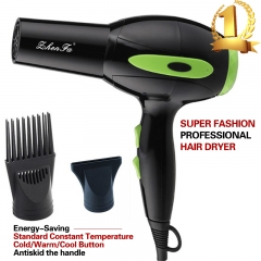 High Quality Energy Conservation  Hot And Cold Hair Dryer Black and Green as picture