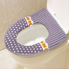 Super Soft Comfortable Toilet Seat Cover Warm Mat Washable Grey as picture