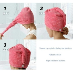 Bathroom Hair Hat Shower Hair Hat Dry Hair Hat Bath Hair Drying Microfiber Fabric Bath Cloth Towels color random deliver as picture