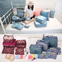 6Pcs Travel Storage Bags Set Clothes Underwear Laundry Pouch Luggage Organizer For Home blue