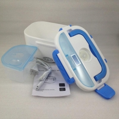 Electric Food Warmer Portable Heated Lunch Box set blue