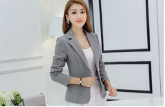 Korean version of Slim long sleeve small suit jacket casual suit grey s