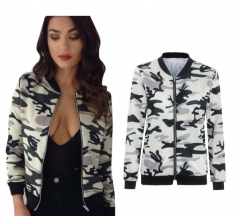 ZINC Big sale Long sleeve camouflage thin coat cardigan as the picture s