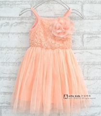 Girls lovely lace pink dress pink 100cm