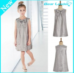 Girls Fashion Bow tie  silver dress silver 100cm