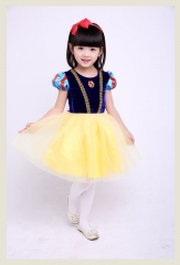 Lovely Princess Dress Birthday Christmas Ball Gown Yellow 100