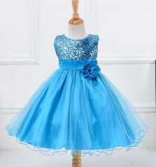 New Kids Girl Pageant Clothes Princess Dress Birthday Wedding Party Wear fuchsia 140