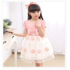 2017 New Kids Girl Dress Children Summer Tutu Dress pink 100
