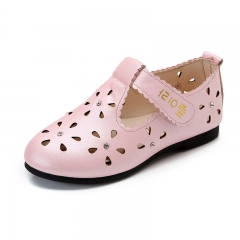 Kids Girl Shoes Princess Hollow Out Breathable Sandals pink eur26 16cm