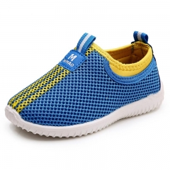 Children's Shoes New Running Breathable Non-slip Surface Single Leisure Cloth Shoes sky bule eur26