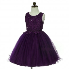 Children Kids Girls Dress  Princess Skirt Tutus Purple 100