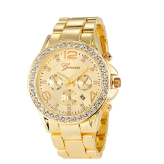 Fashion Lady Watch Bracelet Quartz Analog Gold Watch Girl Watch gold