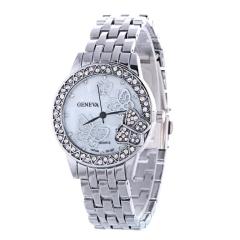 Butterfly Watch Lady Watch Quartz Analog Watch Nice Women Watch silver