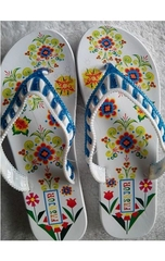 Ms. colored flower slippers