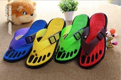 Plus Size New 2015 Sandals For Men Rubber Casual Fashion Slippers Summer Flip Flops Crimson Yellow Green Blue Shoes Size 40-45