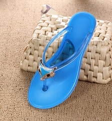 Plus Size New 2015 Sandals For Women Rubber Crystal slippers Casual Fashion Slippers Summer Flip Flops Blue Grey Red Green Yellow Purple Shoes Size 36-40 Double color crystal fox head