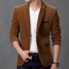 Personalized fashion Slim wild suit khaki m