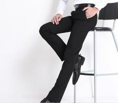 The new men 's business men' s trousers Slim Formal wear non - iron trousers men 's suit trousers black s