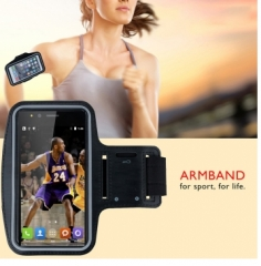 Outdoor Running Sports Armband Waterproof Case Key Pocket for 5.5inch smartphone black 5.5inch