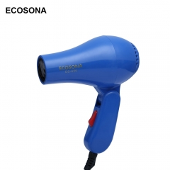 Mini Foldable Portable Traveller Compact Blower Hair Dryer blue one size