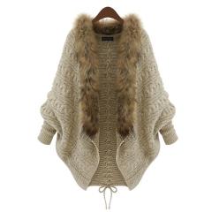 Ladies sweater shawl cardigan coat Apricot l