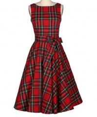 New retro lattice big poncho skirt 5899# red xl