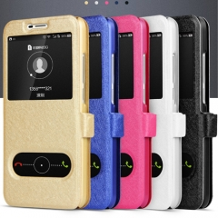 Window Case For Huawei Y6 Pro Flip Leather Cover white huawei y6 pro blue one size