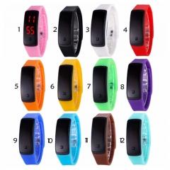 New Fashion LED Bracelet Digital Watches black For Men&Ladies&Chil