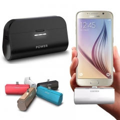 Universal Pocket Mini Rechargeable Power Bank for Android Phones black 3000mAh