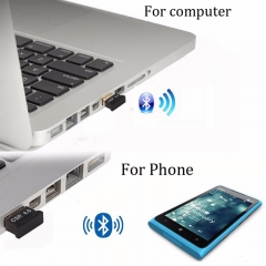 Wireless USB Bluetooth Adapter V4.0 black For Computer PC Lap mini