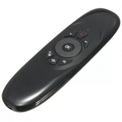 Wireless Keyboard  Gyroscope 3D Motion Sensor Stick Microphone  for Phone TV black 20cm*4cm*2cm