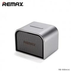 Remax Mini Portable Bluetooth Speaker Aluminum Wireless Home Music Player Stero MIC Boombox silver 6 x2