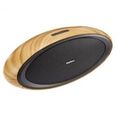 Remax Hi-Fi 3D Desktop NFC Wireless Wooden Bluetooth Portable Speaker Stereo Music Super Bass