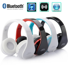 Portable Foldable Stereo Bluetooth Headset Wireless Handsfree Over-ear Headphones with Microphone