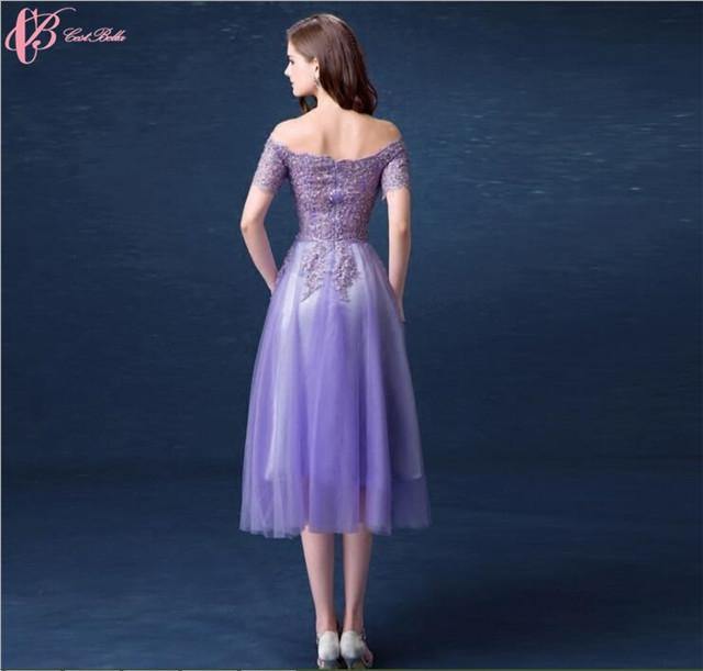 ec501b109d39 2017 latest off-shoulder chiffon lace appliques pattern purple ...